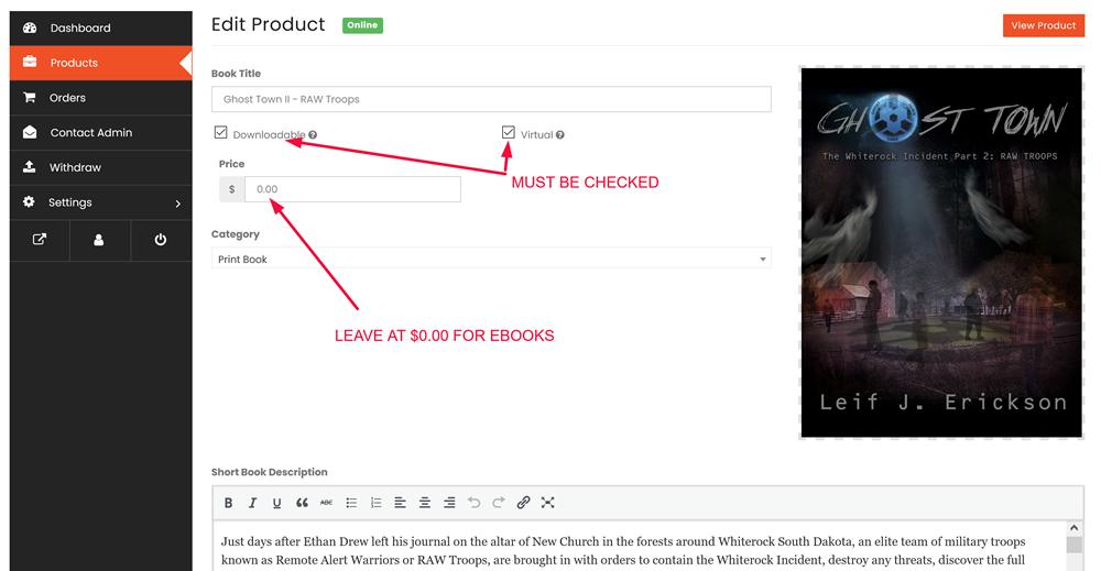 Upload eBook to Book Selfie