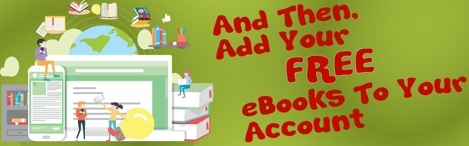 Add Your FREE Books To Your Account