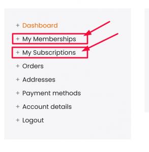 Update Membership - Subscription
